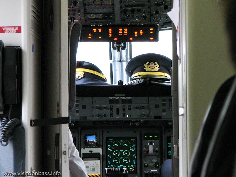 Самолет Luxair в аэропорту Саарбрюккен, Германия