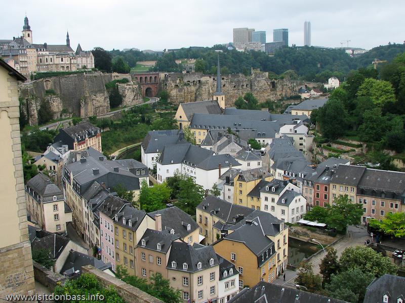 Стеклянные небоскребы вынесены за пределы исторической части Люксембург-сити