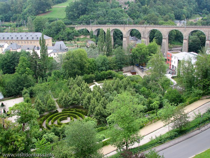 Маленькие мосты в нижней части Люксембург-сити