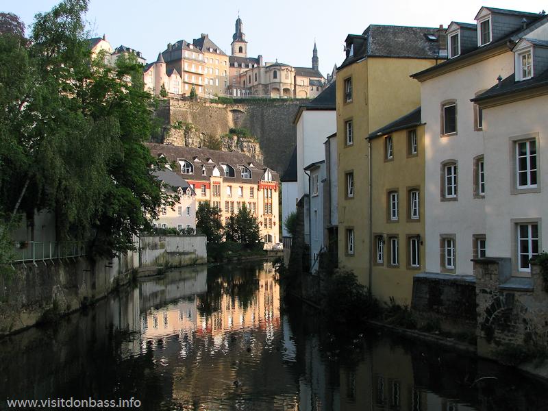 В Люксембург-сити две основные реки - Альзетт и Петрус