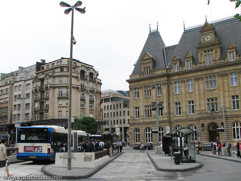 Конечная остановка муниципального транспорта в Люксембург-сити
