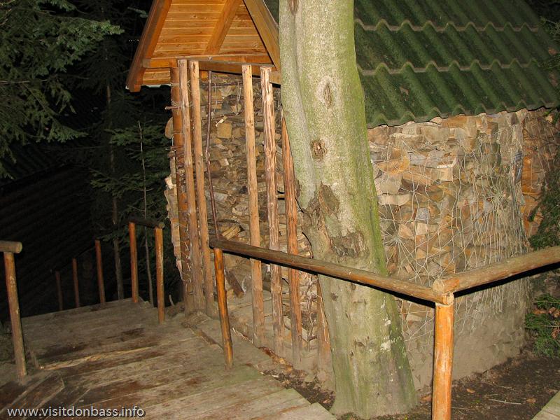 Гостиничный комплекс Мигово. Поленница для сауны, дрова