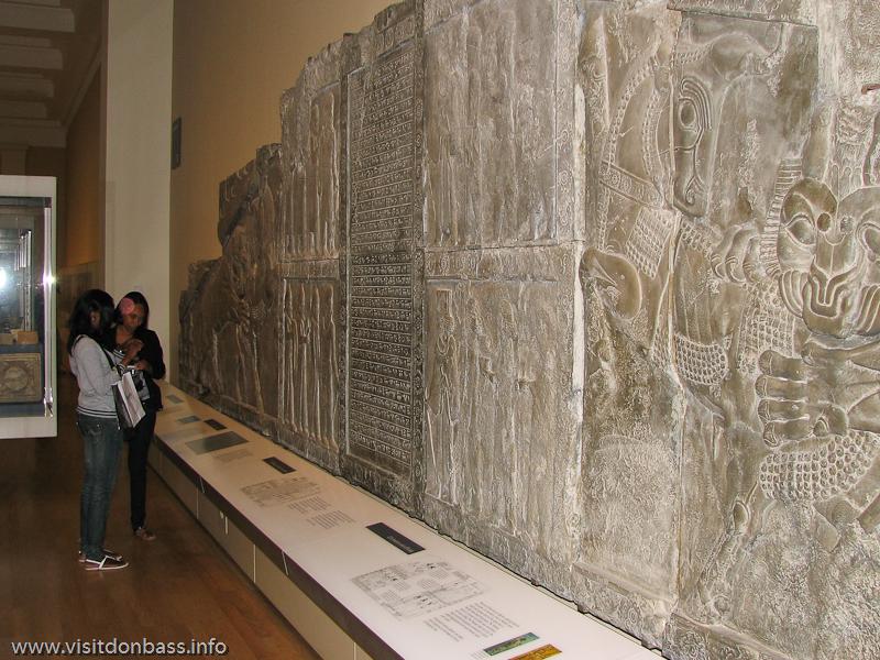 Вавилонские барельефы в Британском музее в Лондоне