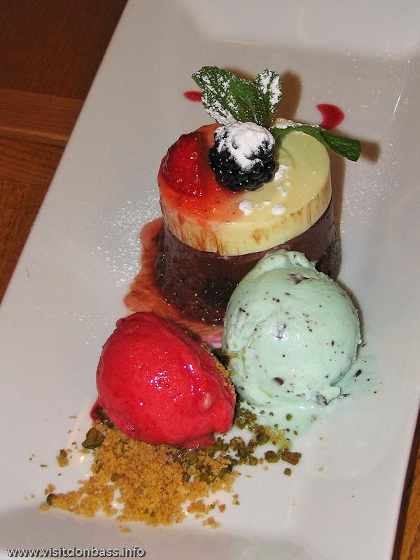 Десерт в ресторане в Винополисе в Лондоне