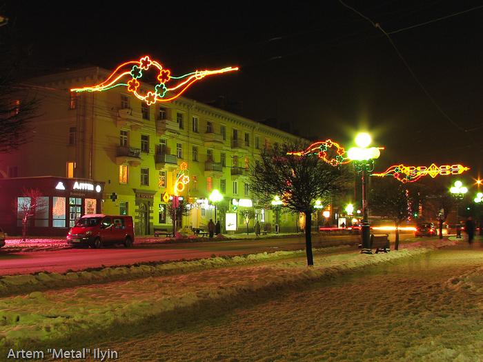 Ночной Луцк