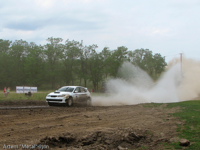 Subaru Impreza Юрия Протасова и Александра Горбика на Ралли Мариуполь 2008