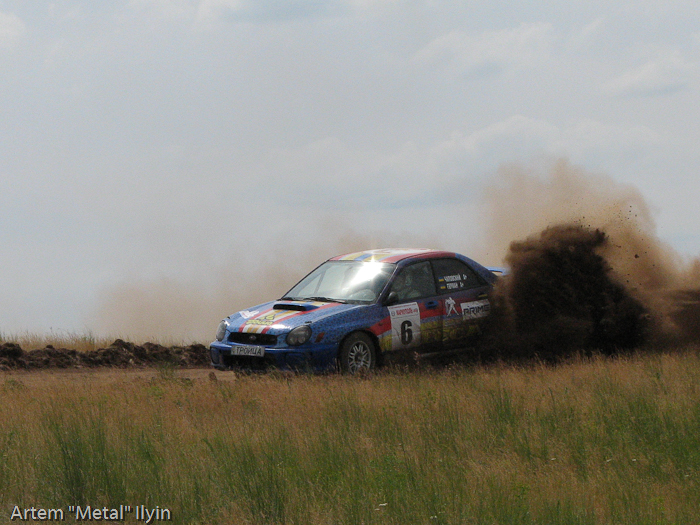 Subaru Impreza Игоря Чаповского и Ивана Германа на ралли Мариуполь 2008