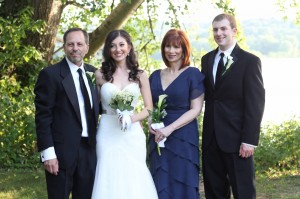 four of us at wedding
