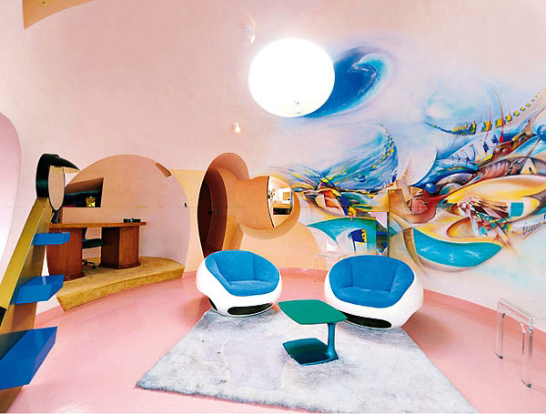 интерьер pierre cardin bubble house