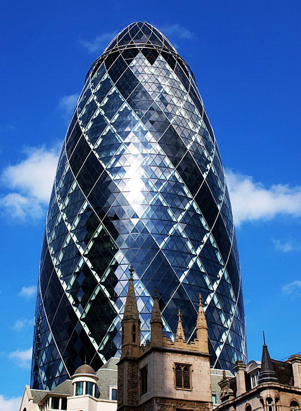 Unusual houses of the world gherkin building happy for Building londre