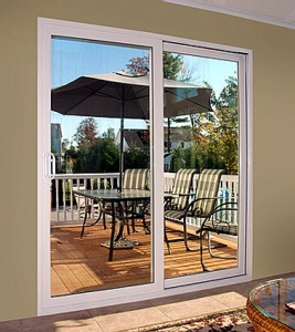 sliding glass door to deck