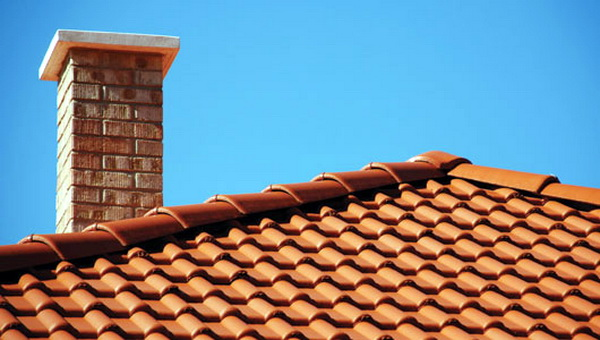 Clay shingle roof
