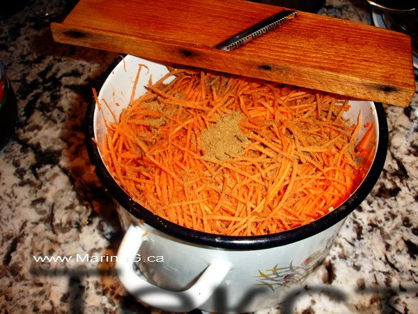 Grating Carrots - Foody Thursday