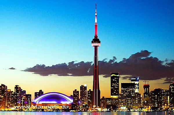 Unusual Houses of The World CN Tower at Night