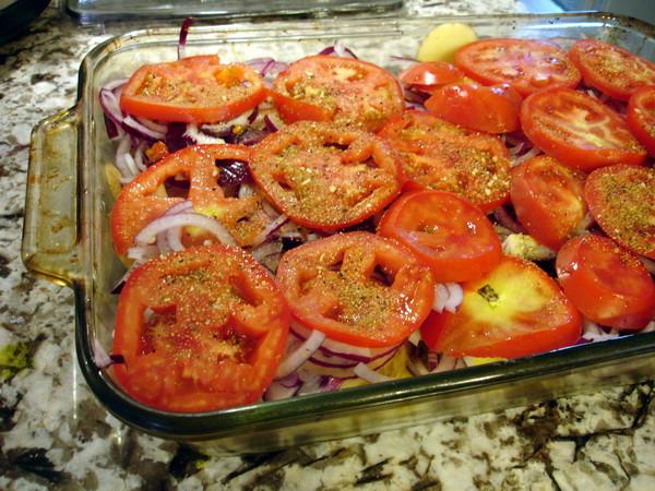 third layer - tomatoes