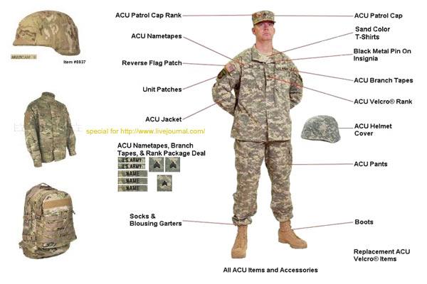 Купить форму солдат армии США
