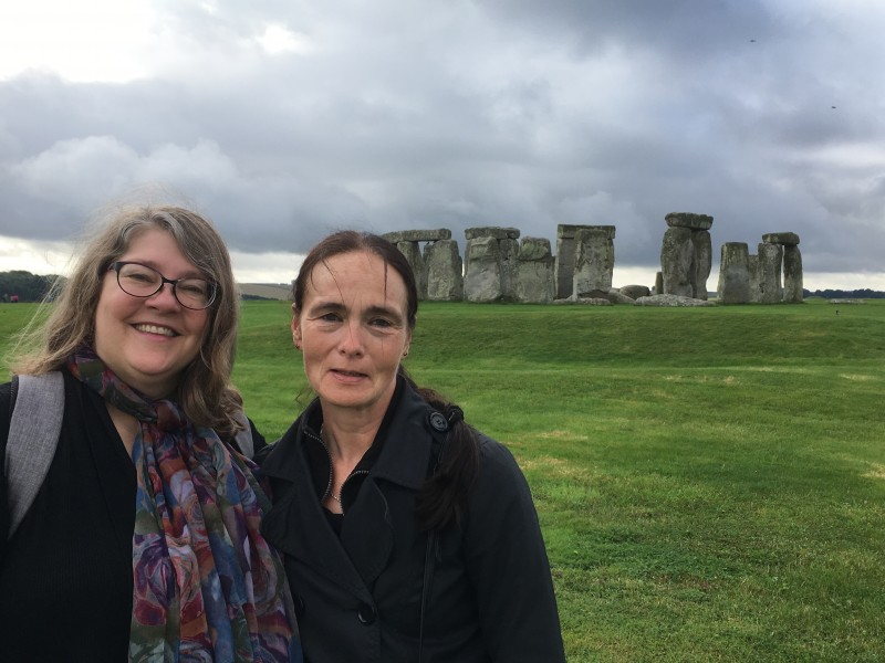 Reb and Deb at Stonehenge for Autumn Equinox 2016
