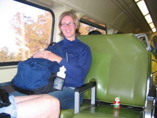 Gnome on the Train