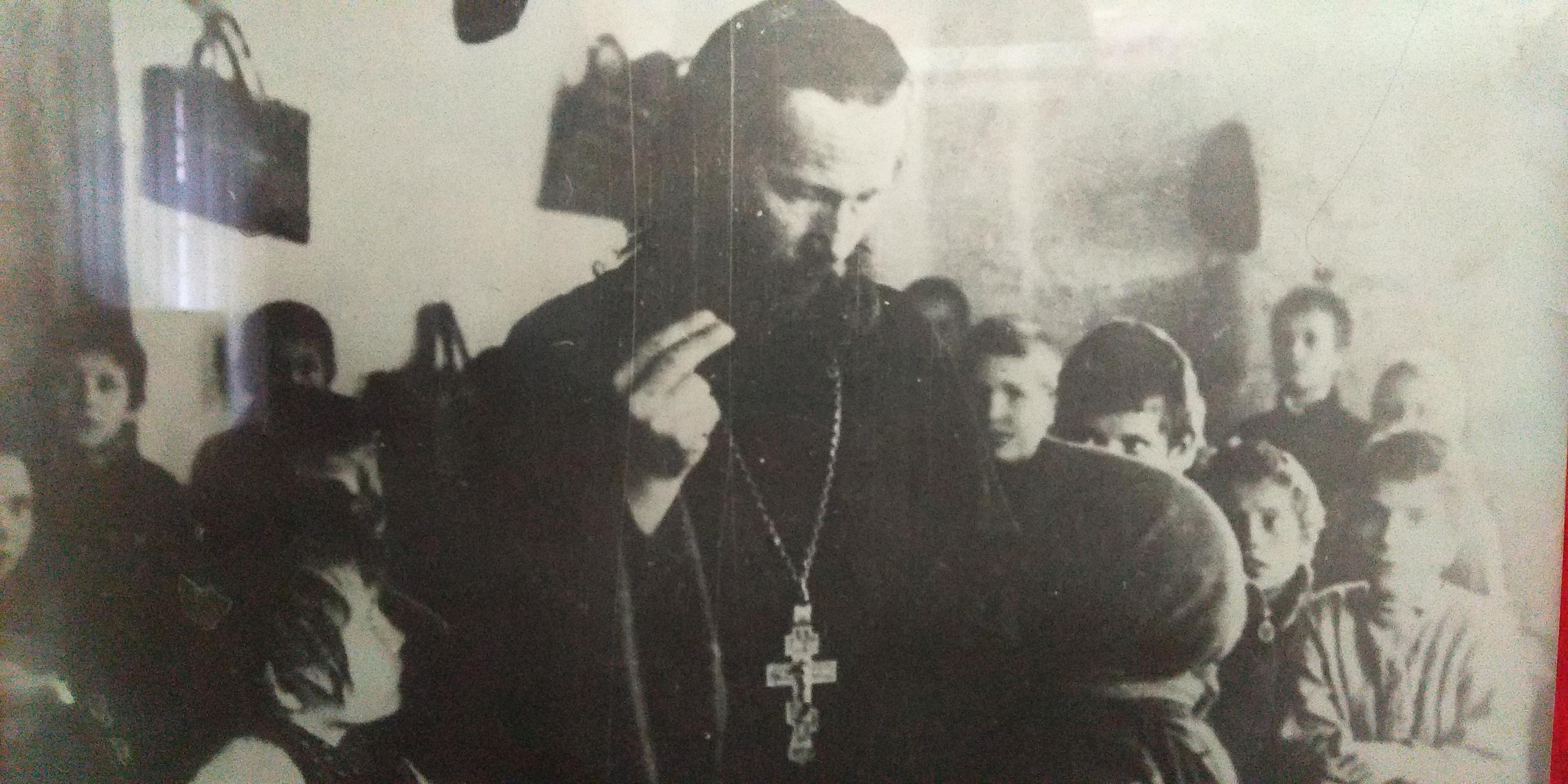 о. Николай Добровольский. Церковно-приходская школа. 1914 ???