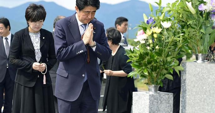 Синдзо Абэ с супругой