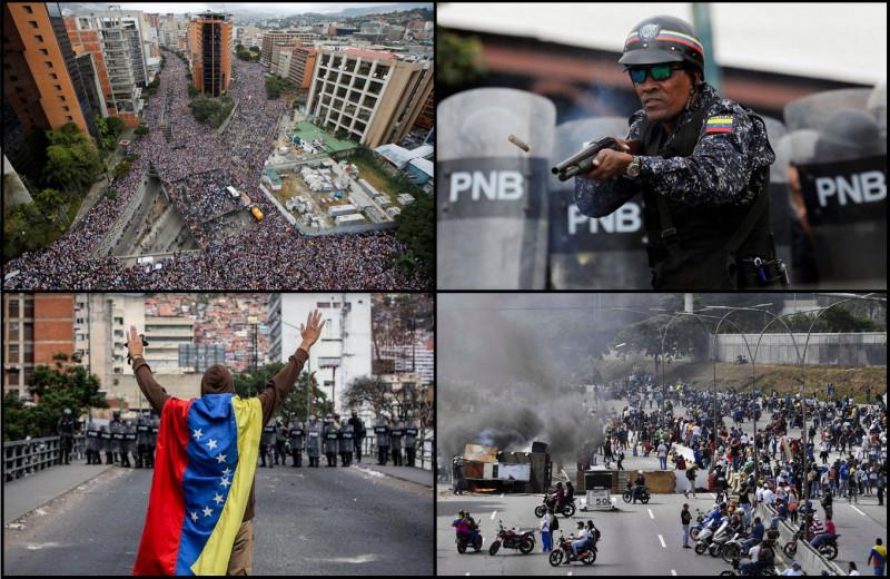 Уличные протесты в Венесуэле