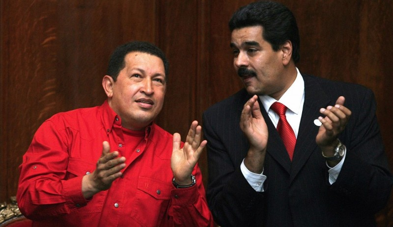 Уго Чавес со своим приемником Николасом Мадуро