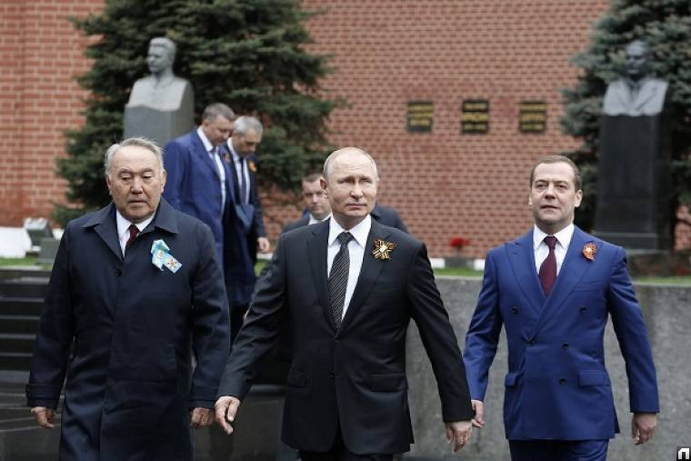 Н.А. Назарбаев, В.В. Путин, Д.А. Медведев