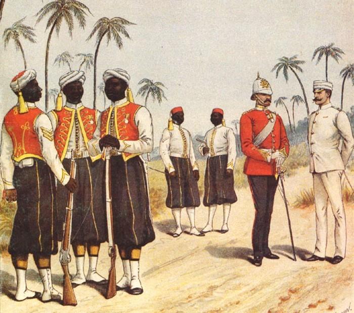 Британские колониальные войска в Индии