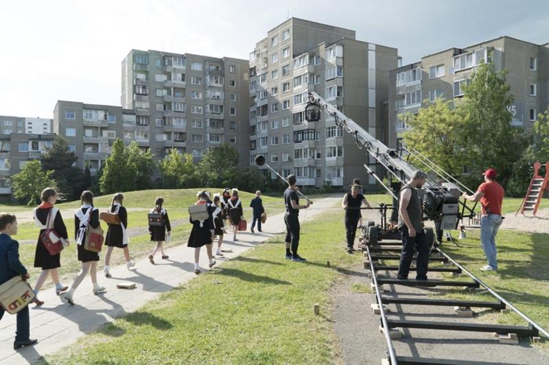 Съемки сериала в районе Фабиенишки (Литва)