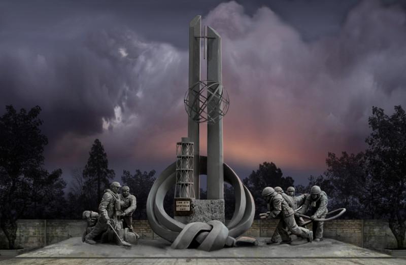 Мемориал пожарным погибшим на ЧАЭС