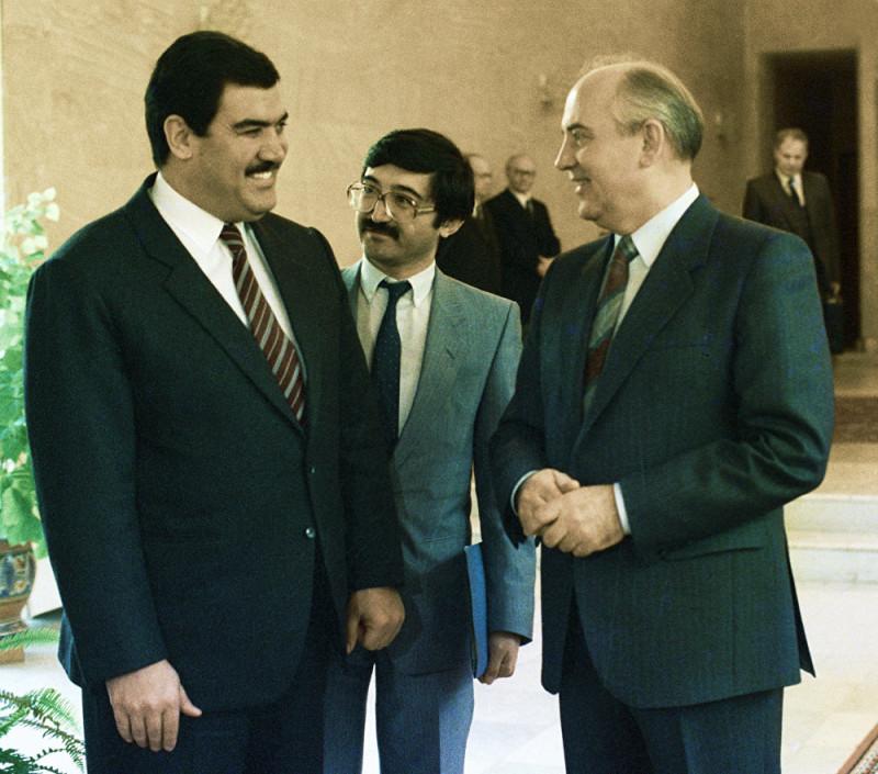 Мохаммад Наджибулла и Михаил Горбачев