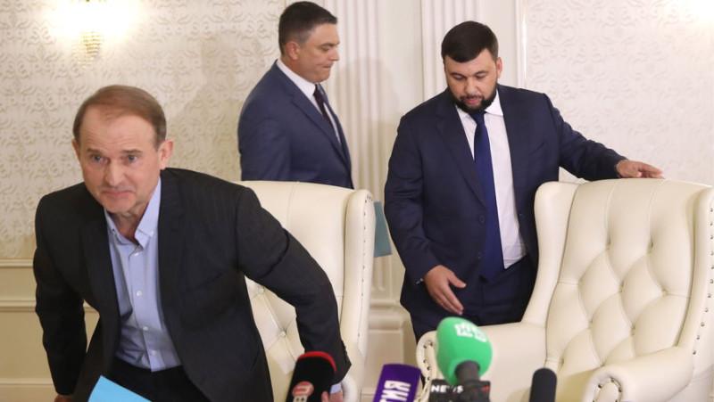 Виктор Медведчук, Леонид Пасечник, Денис Пушилин