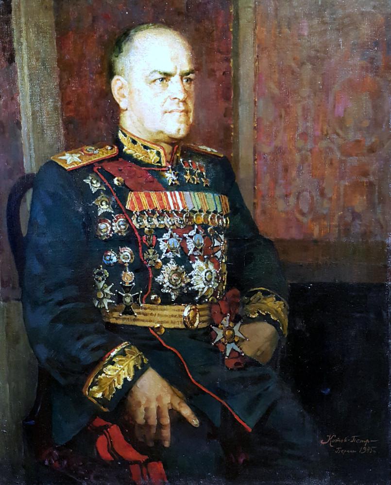 """художник Котов """"портрет Маршала Жукова"""""""