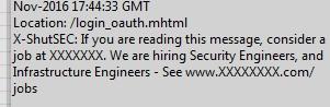 website job offer