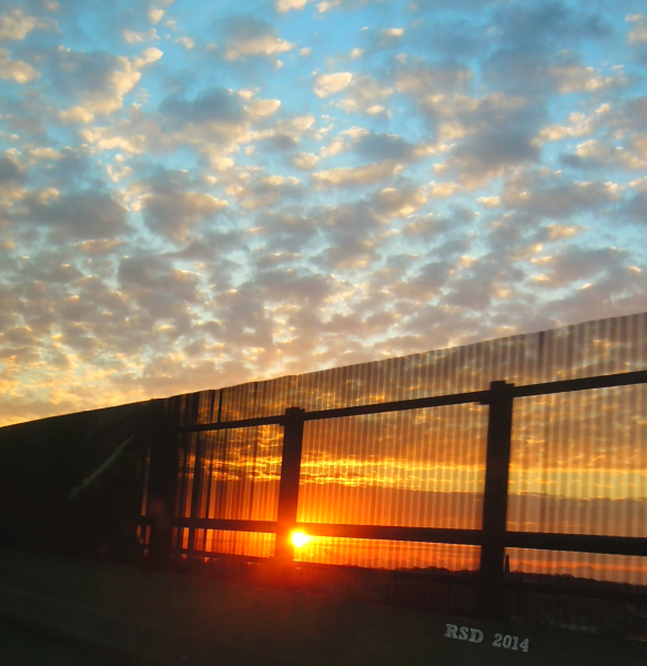 new london freeway bridge sunrise signed1
