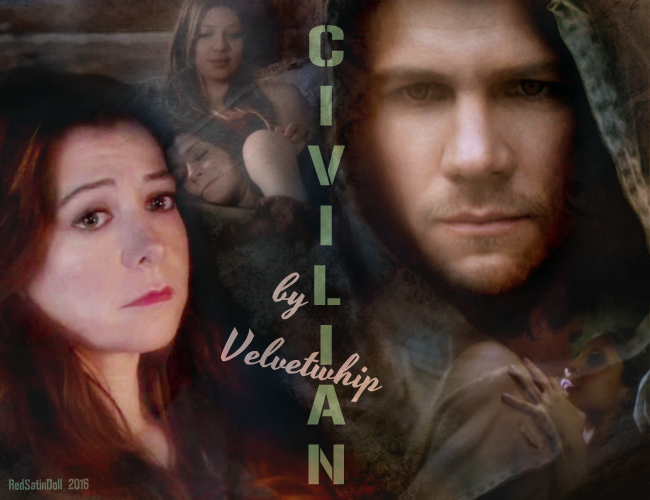 Final version cover art for Civilian by Velvetwhip made for her birthday Jan 14 2016 story link http://velvetwhip.livejournal.com/1625058.html DO NOT TAKE