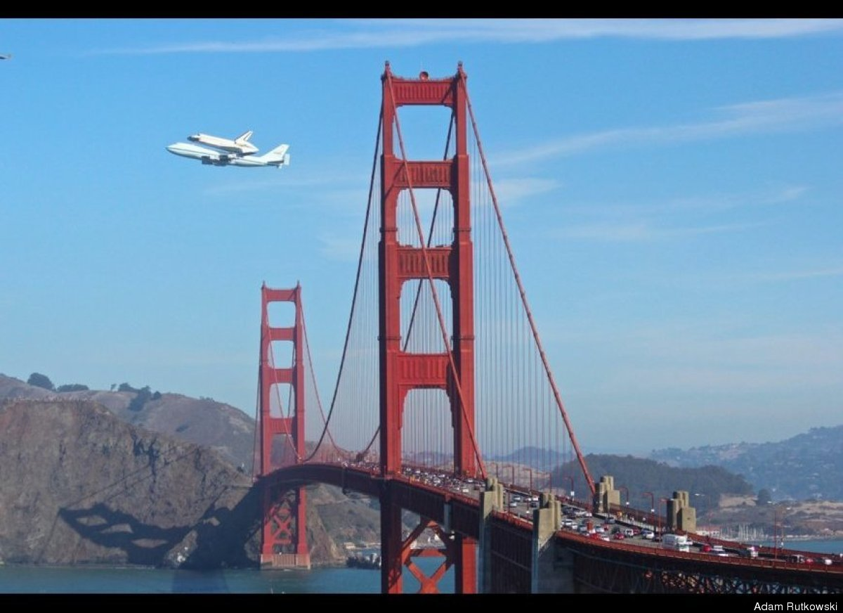 shuttle over SF