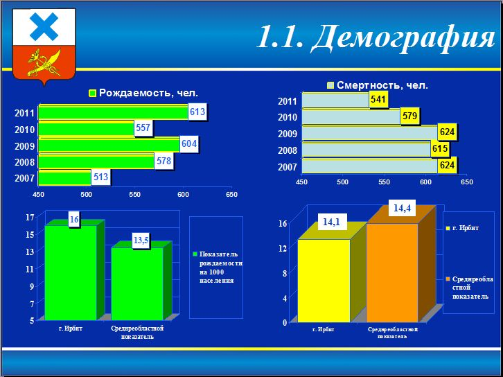 Демография в Ирбите