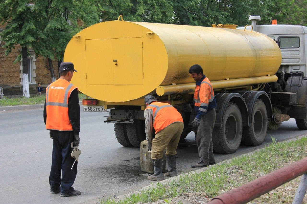 Цистерна с водой для охлаждения резака. 17 июня 2012 г.