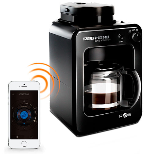 Умная кофеварка со встроенной кофемолкой REDMOND SkyCoffee M1505S