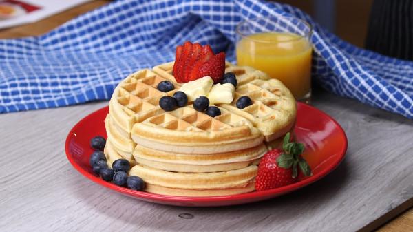 Вафли на завтрак