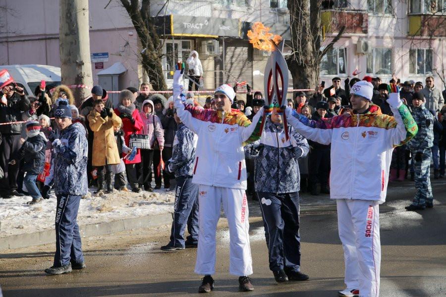 эстафета олимпйского огня в Краснодаре