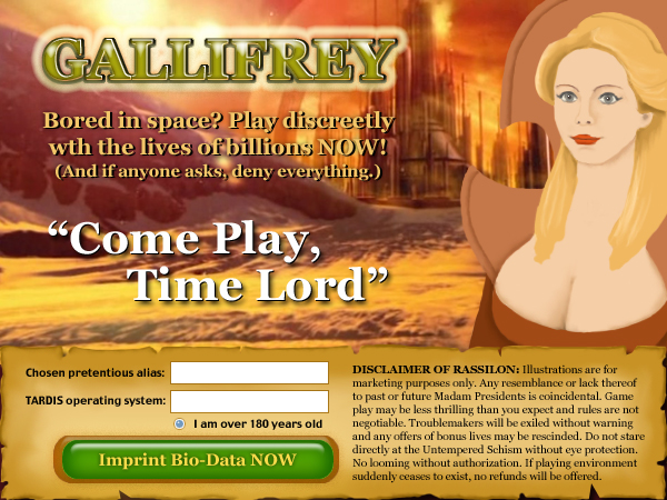 Gallifrey: the Game!