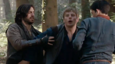 Arthur gets a darn good manhandling from his close personal friends.