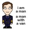 Martin has a van