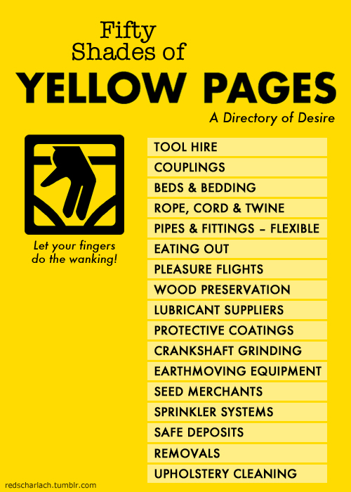 Fifty Shades of Yellow Pages: A Directory of Desire!