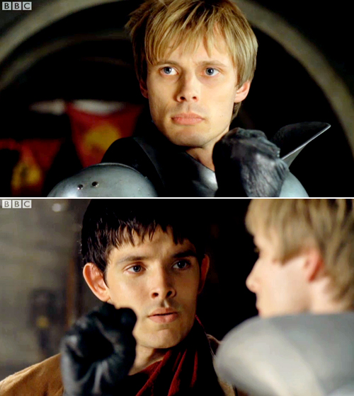 Arthur's fist may well bring tears to Merlin's eyes for the second time that day.