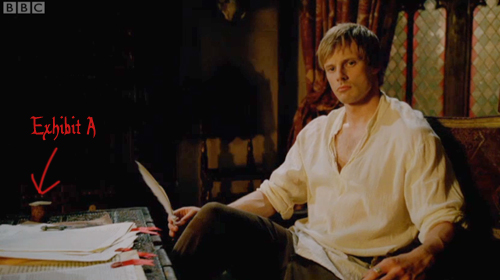Arthur pouts moodily as he replies to his fanmail.