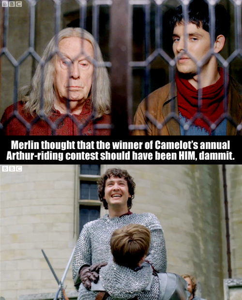Merlin told Arthur not to embrace magic, but did Arthur listen? No, he did not.