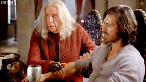 Gaius gets to grips with Gwaine